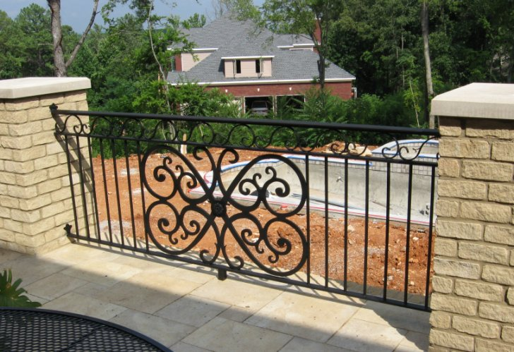 Wrought Iron Deck Railing Designs